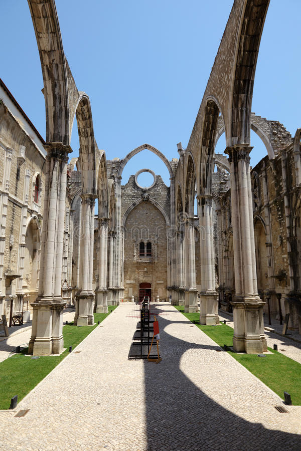 Igreja faz a igreja de Carmo, Lisboa imagens de stock royalty free