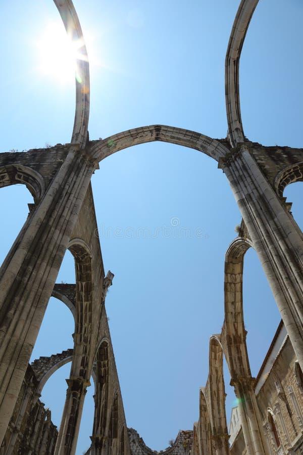 Igreja faz a igreja de Carmo, Lisboa imagem de stock