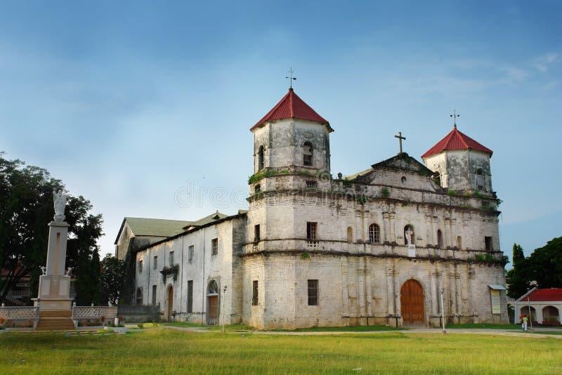Igreja filipina barroca velha imagens de stock royalty free