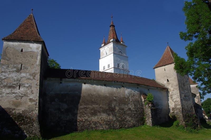 Igreja fortificada de Harman foto de stock