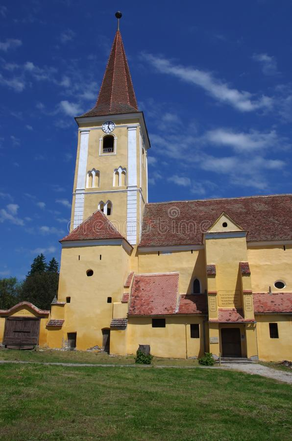 Igreja fortificada de Sura Mare, imagem de stock