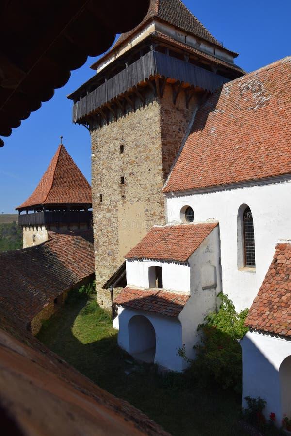 Igreja fortificada em Romania fotos de stock royalty free
