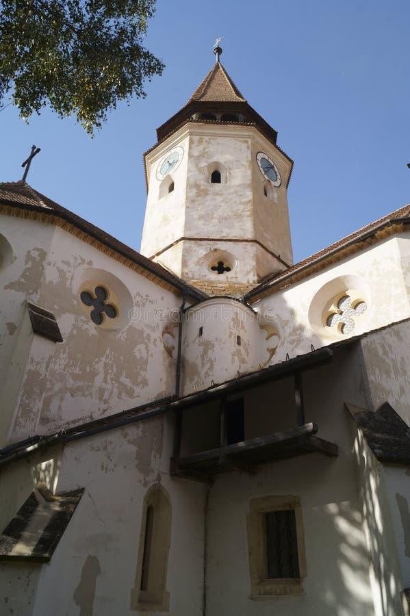 Igreja fortificada Evangelical de Prejmer, Brasov, Romênia foto de stock royalty free