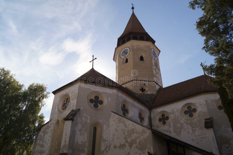 Igreja fortificada Evangelical de Prejmer, Brasov, Romênia fotos de stock royalty free