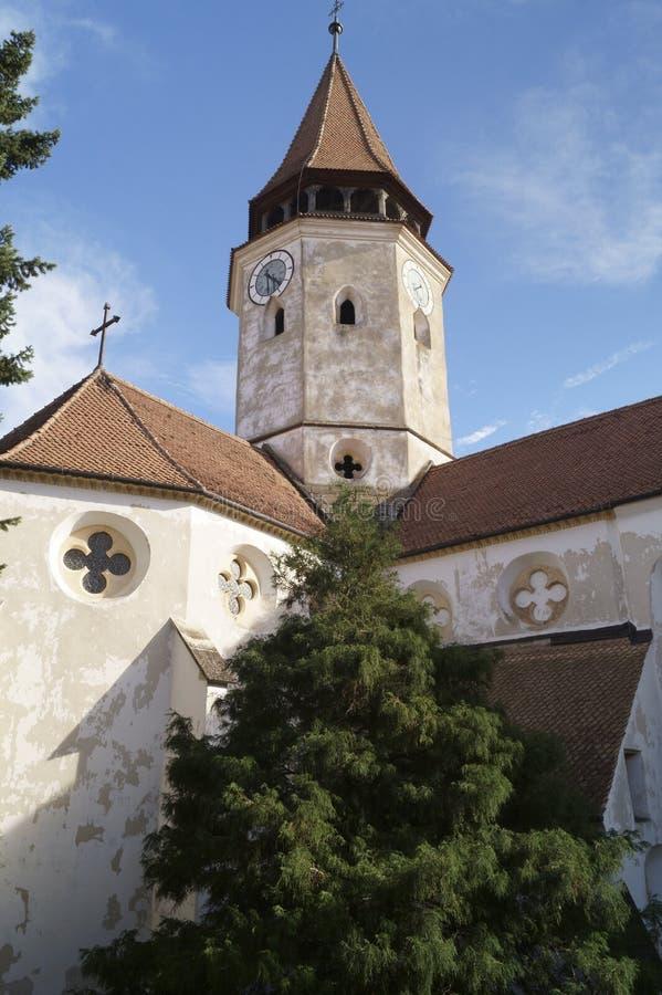 Igreja fortificada Evangelical de Prejmer, Brasov, Romênia fotografia de stock royalty free