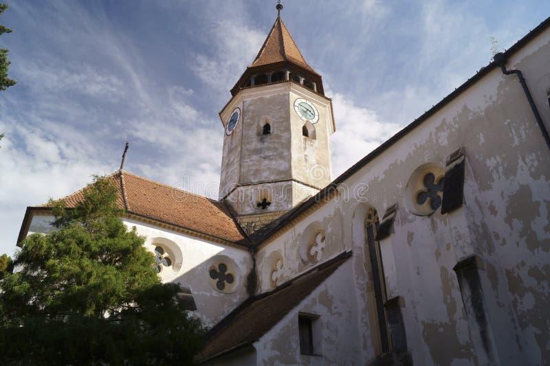 Igreja fortificada Evangelical de Prejmer, Brasov, Romênia foto de stock