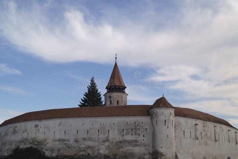 Igreja fortificada Evangelical de Prejmer, Brasov, Romênia imagem de stock