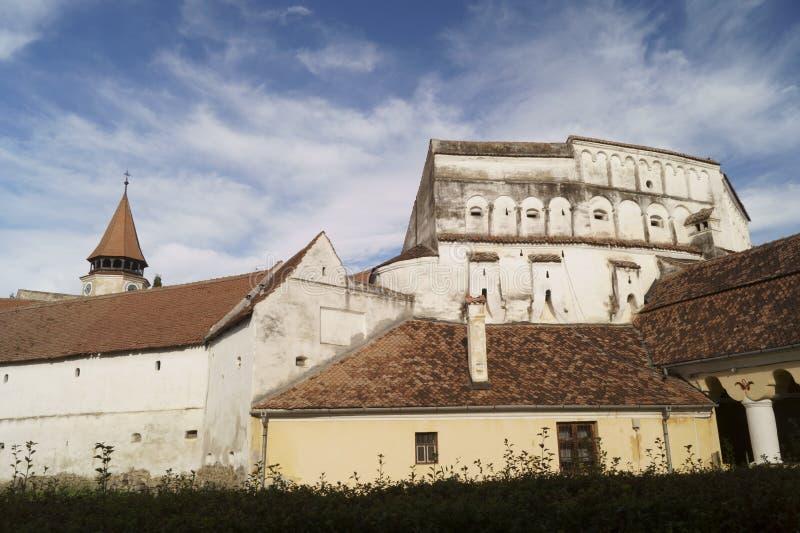 Igreja fortificada Evangelical de Prejmer, Brasov, Romênia fotos de stock