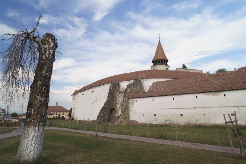 Igreja fortificada Evangelical de Prejmer, Brasov, Romênia imagens de stock
