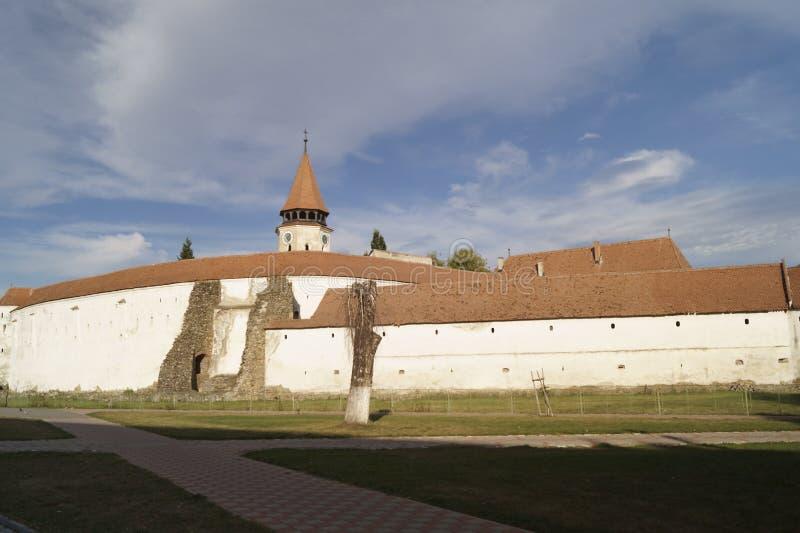 Igreja fortificada Evangelical de Prejmer, Brasov, Romênia fotografia de stock