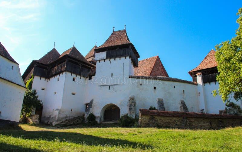 A igreja fortificada Viscri imagens de stock royalty free