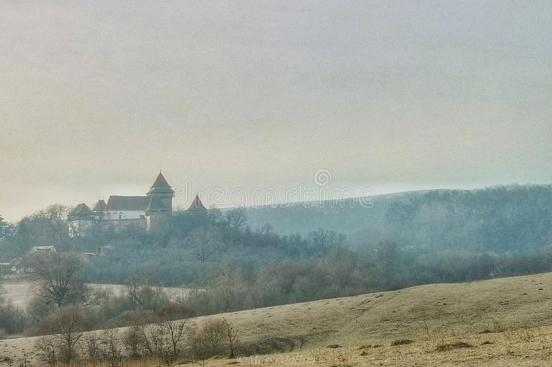 Igreja fortificada Viscri Romênia imagens de stock royalty free
