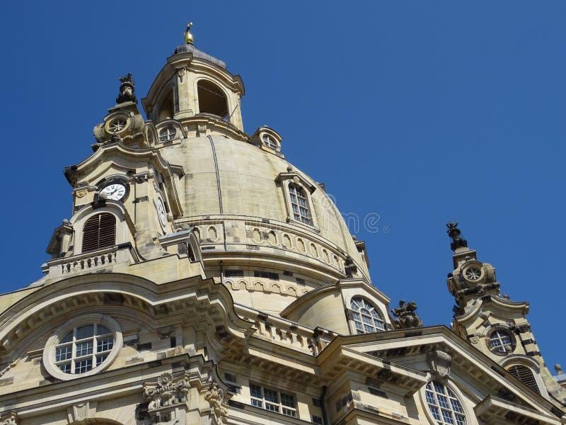Igreja Frauenkirche em Dresden Alemanha imagens de stock