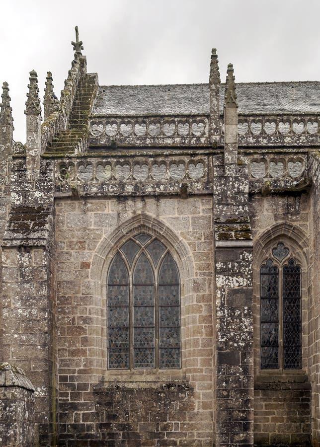 Igreja gótico no francês brittany imagem de stock royalty free