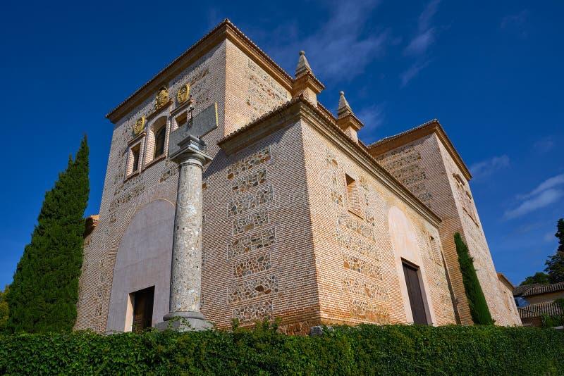 Igreja Granada de Santa Maria de Alhambra imagem de stock