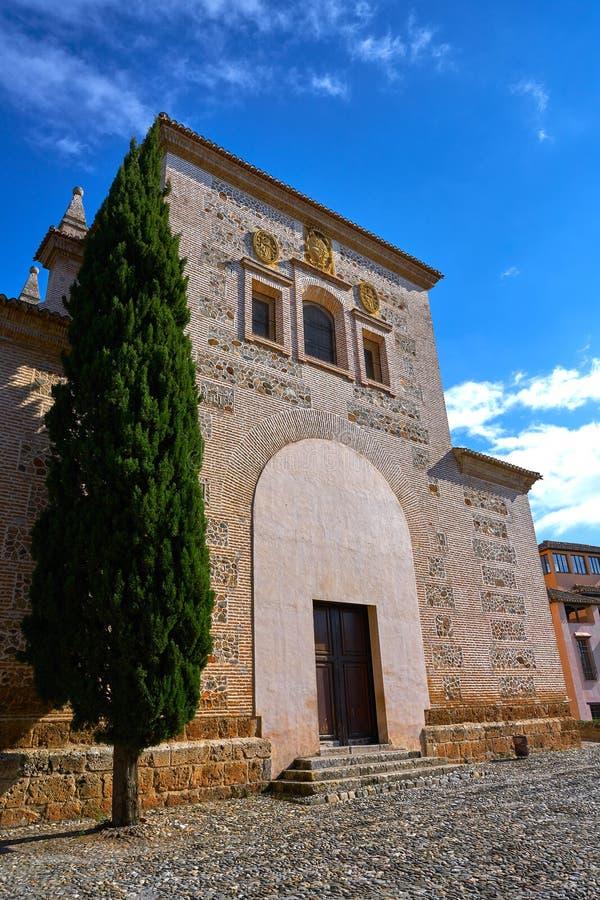Igreja Granada de Santa Maria de Alhambra fotos de stock