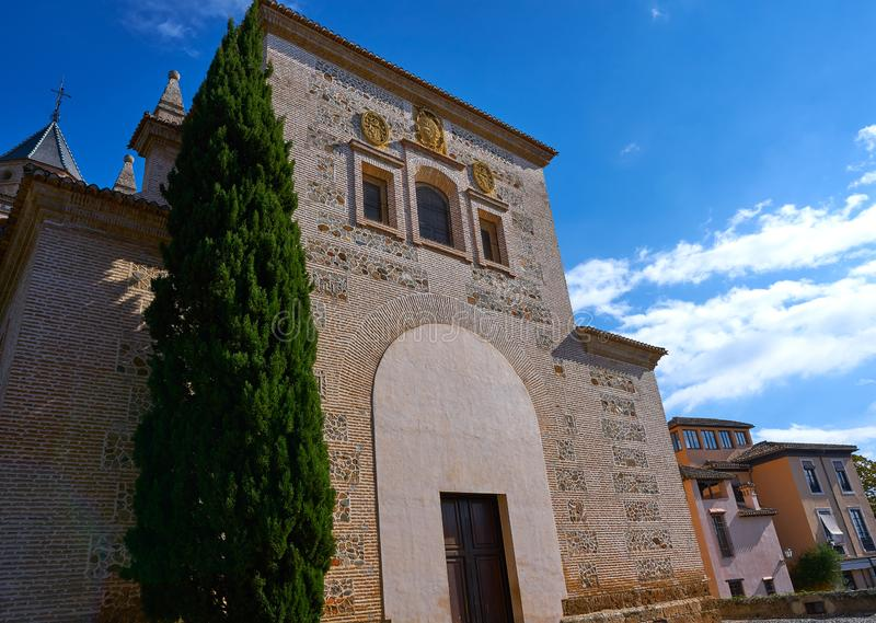Igreja Granada de Santa Maria de Alhambra imagens de stock royalty free