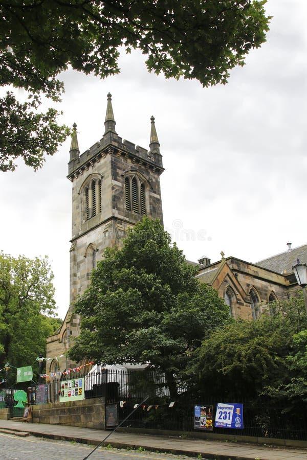 Igreja Greenside, igreja da igreja presbiteriana de Escócia na cidade velha do festival 2016 da franja de Edimburgo foto de stock