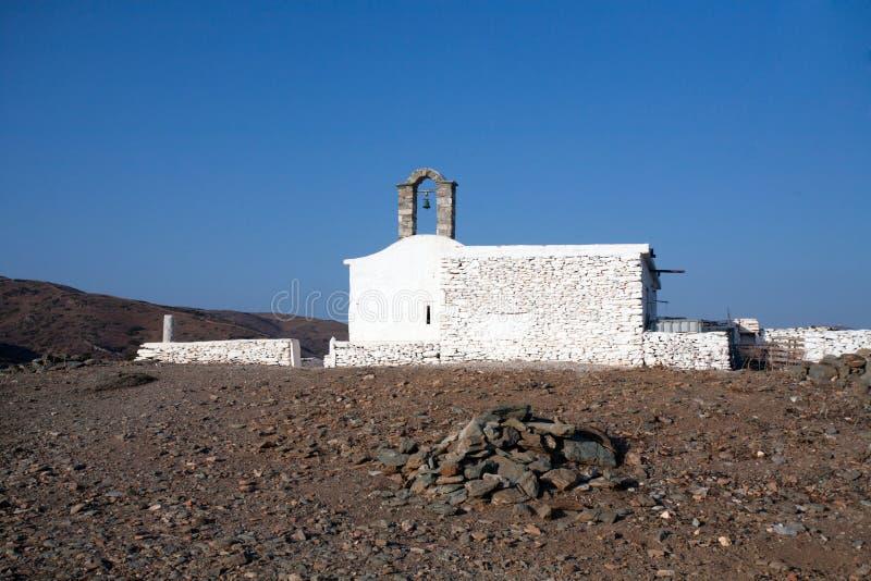 Igreja grega pequena imagem de stock