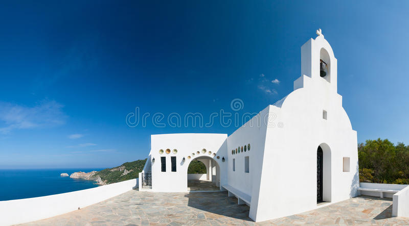 Igreja grega tradicional fotografia de stock royalty free