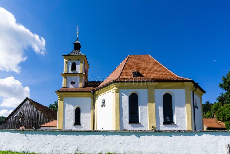Igreja Griesstetten da peregrinação em Dietfurt no ¼ de Altmà hltal em Baviera Alemanha fotografia de stock