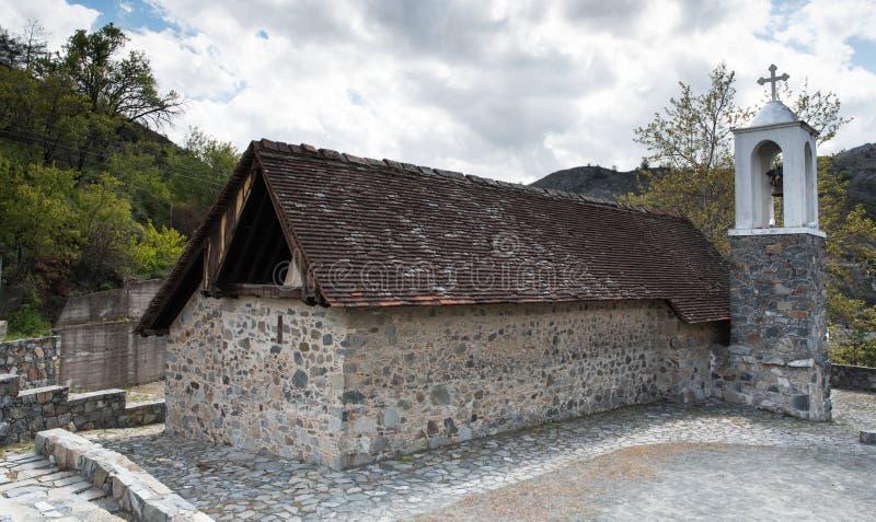 Igreja histórica antiga de Saint Sotiros em Chipre imagens de stock royalty free