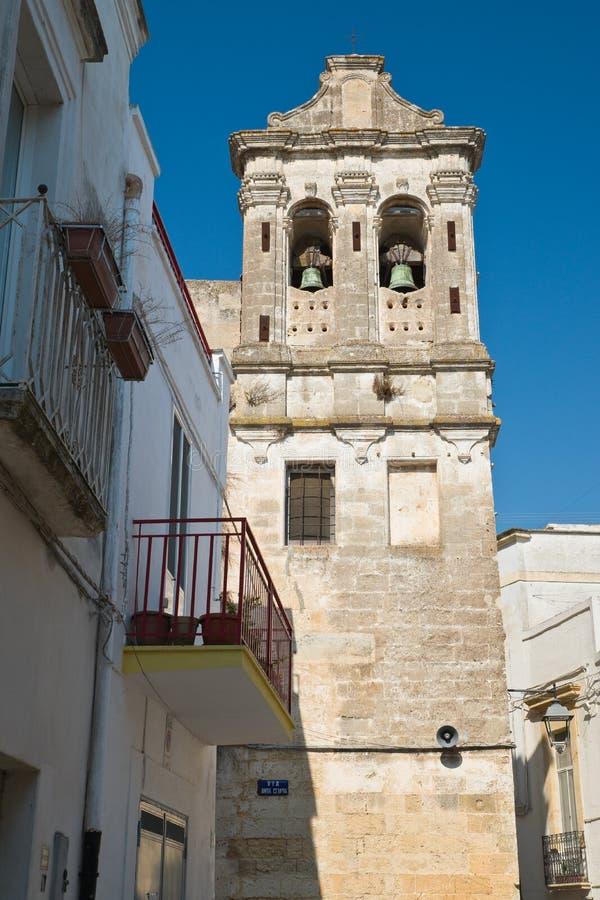 Igreja histórica Castellaneta Puglia Italy imagens de stock