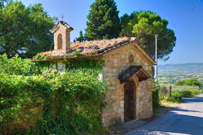 Igreja histórica de Assisi. Úmbria. Itália. imagens de stock