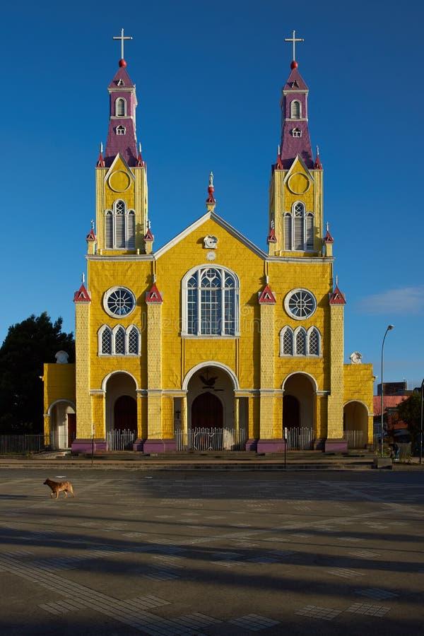 Igreja histórica de Chiloé fotografia de stock royalty free