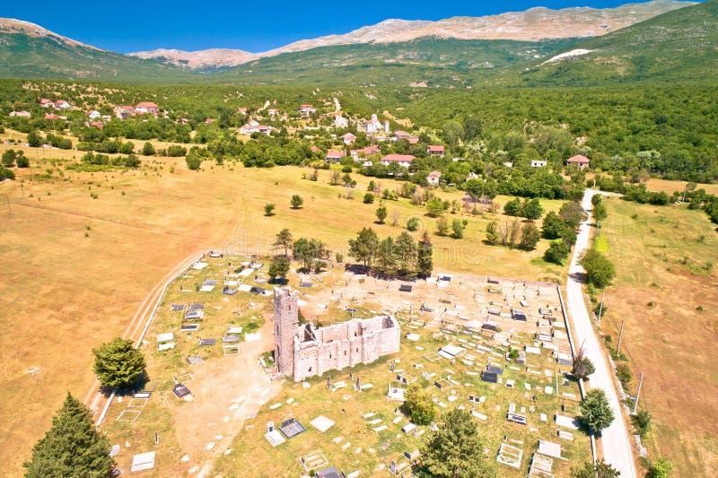 Igreja histórica de ruínas santamente do salvação em Cetina fotos de stock royalty free