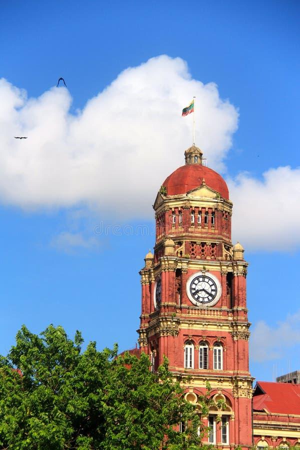 Igreja histórica do parque do bandula do mala de Yangon fotos de stock royalty free