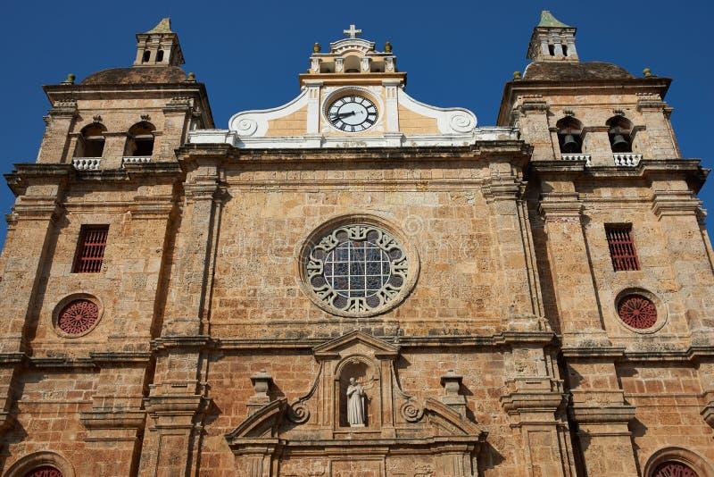 Igreja histórica em Cartagena fotografia de stock royalty free
