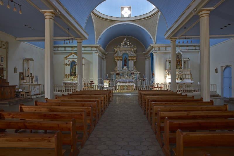 Igreja histórica no deserto de Atacama do Chile imagens de stock royalty free