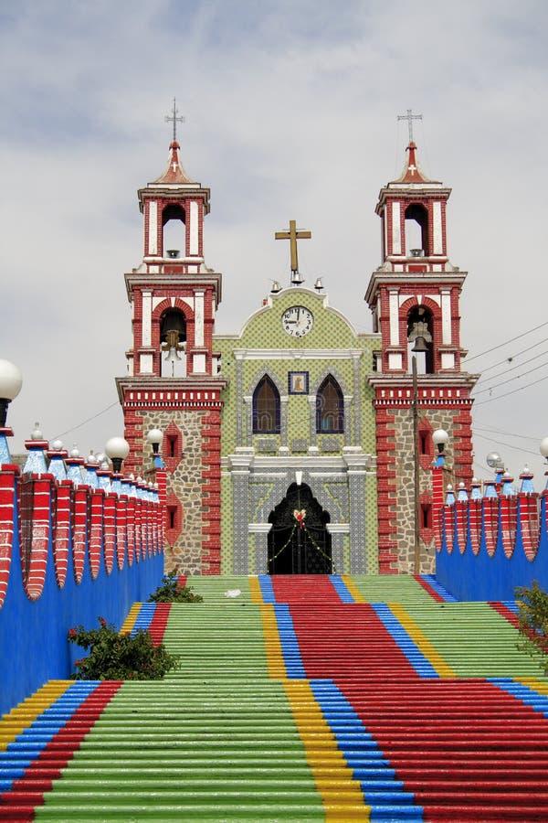 Igreja II de Ixtacuixtla imagens de stock royalty free