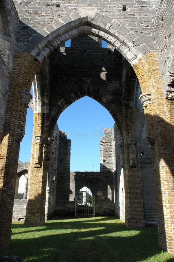 Igreja inacabado, Bermuda fotos de stock royalty free