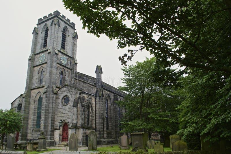 Igreja inglesa do país imagens de stock