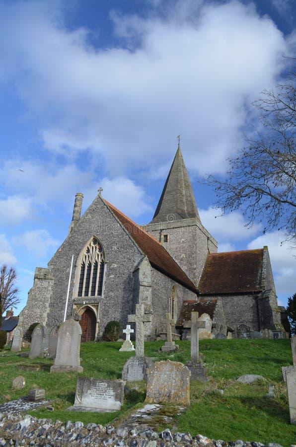 Igreja inglesa do século XII fotos de stock