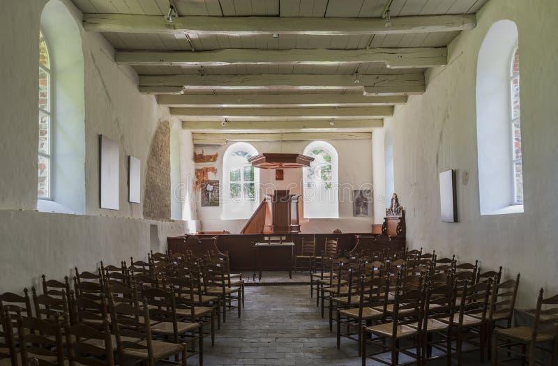 Igreja interior Oostrum fotos de stock royalty free
