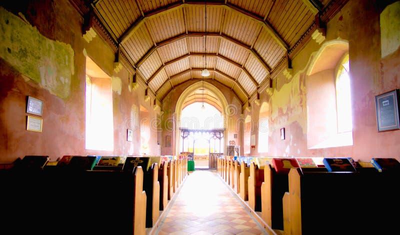 Igreja interior Somerton ocidental do ` s de St Mary fotos de stock