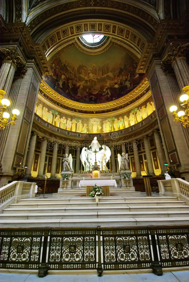 Igreja interna de Madeleine fotos de stock