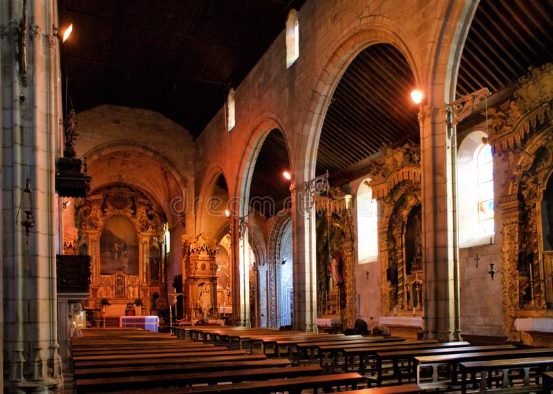 Igreja interna de Matriz de Vila do Conde imagem de stock royalty free