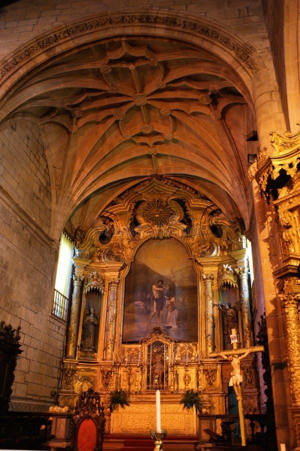 Igreja interna de Matriz de Vila do Conde foto de stock