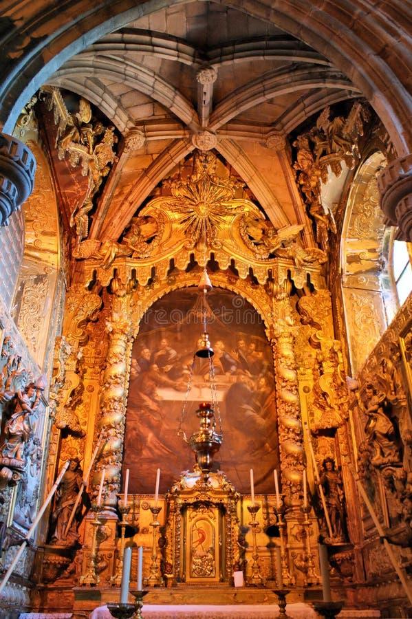 Igreja interna de Matriz de Vila do Conde fotografia de stock royalty free