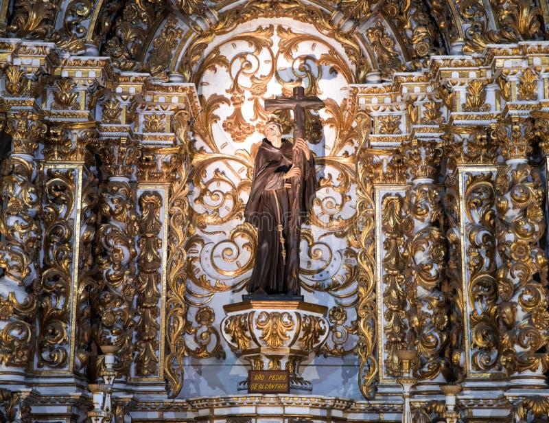 Igreja interno e Convento de São Francisco em Baía, Salvador - Brasil imagens de stock royalty free
