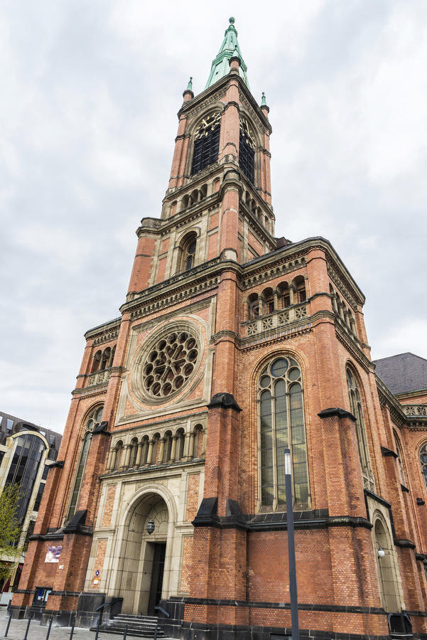 Igreja Johanneskirche de St John em Dusseldorf, Alemanha foto de stock royalty free