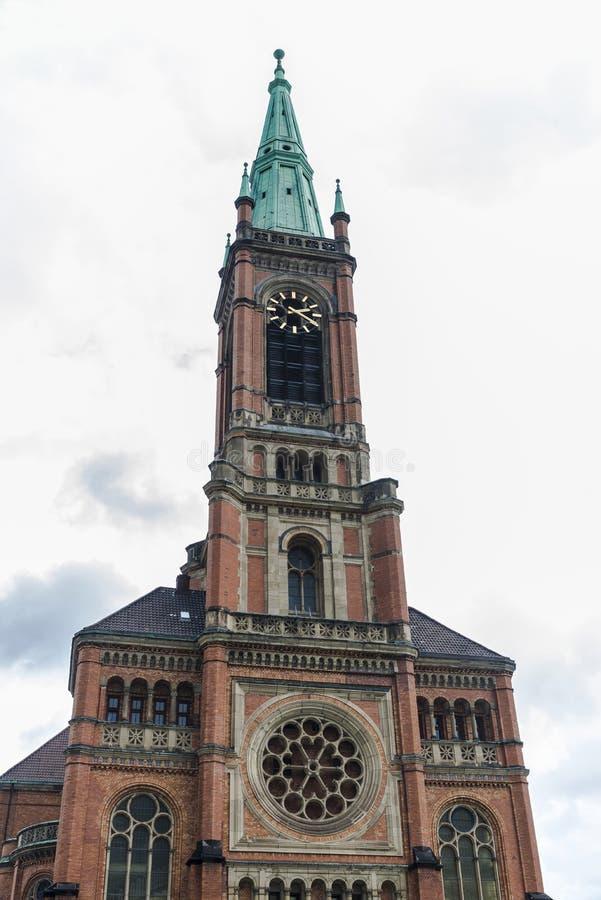 Igreja Johanneskirche de St John em Dusseldorf, Alemanha imagem de stock royalty free