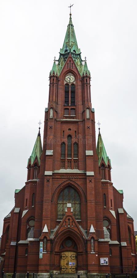 Igreja Johanneskirken em Bergen, Noruega foto de stock royalty free