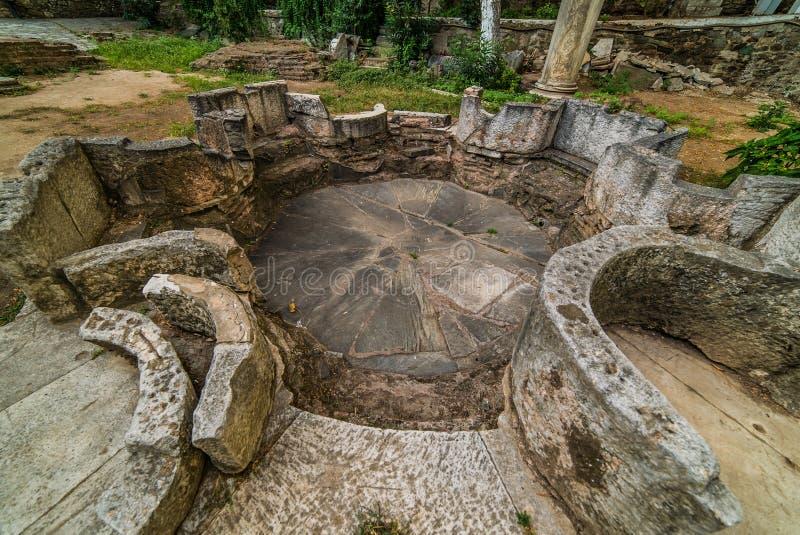 Igreja John The Baptist, detalhes, em Tessalónica fotos de stock