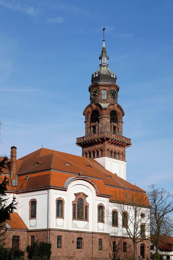 Igreja luterana da ressurreição no ppurr do ¼ de Karlsruhe-RÃ fotografia de stock royalty free