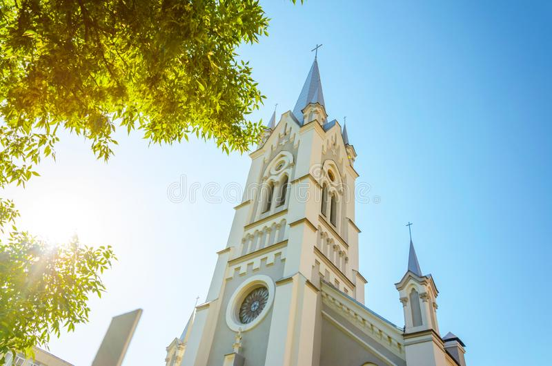 Igreja luterana de St John em Grodno, Bielorrússia fotos de stock royalty free